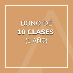 Bono 10 Clases (1 año)