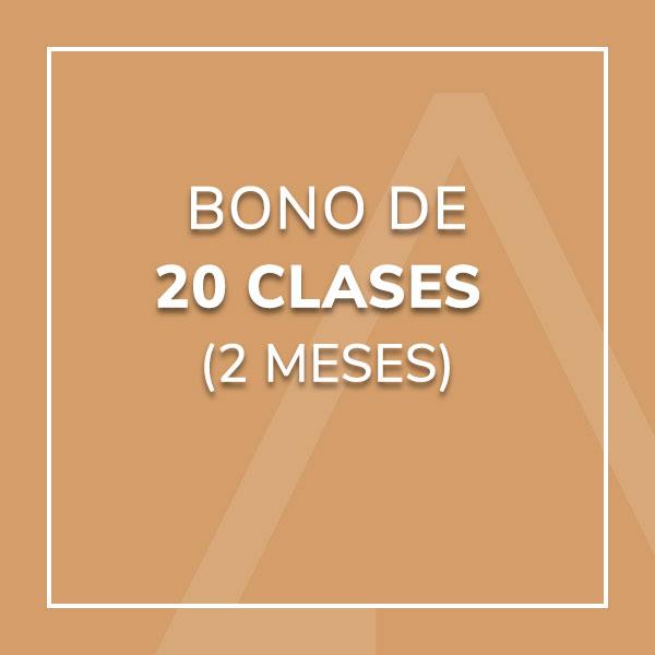 Bono 20 Clases (2 meses)