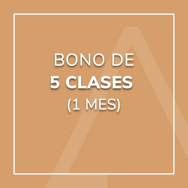 Bono 5 Clases (1 mes)